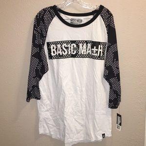 NWT Basic Math Camo Men's Baseball T-Shirt Sz XLG